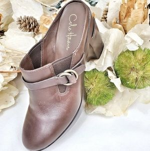 COLE HAAN OPEN BACK SLIP IN CLOGS SIZE 7.5B